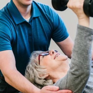 physical rehabilitation for elderly physiotherapy patient